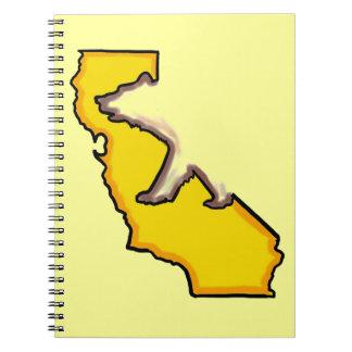 Cuaderno del amarillo del símbolo de estado del os