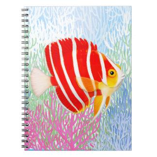 Cuaderno del Angelfish de la hierbabuena del
