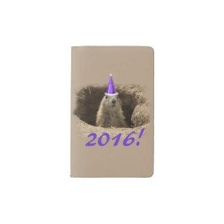 Cuaderno del Año Nuevo del perro de las praderas Funda Para Libreta Y Libreta Pequeña Moleskine