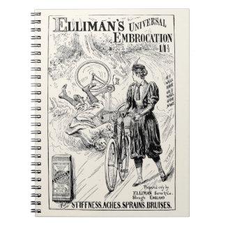 Cuaderno del anuncio de la bicicleta del vintage