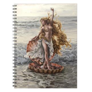 Cuaderno del Aphrodite de la diosa del artista Lin