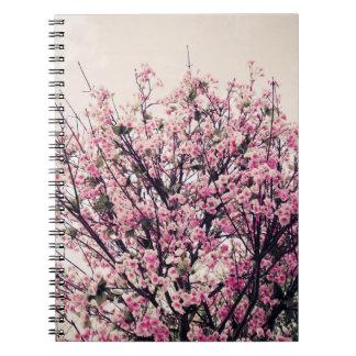 Cuaderno del árbol de la flor de cerezo