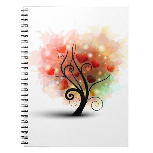 Cuaderno del árbol del corazón