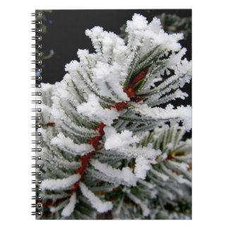 Cuaderno del árbol del invierno