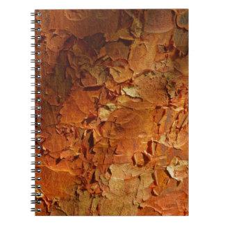 Cuaderno del arce de Paperbark