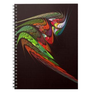 Cuaderno del arte abstracto del camaleón