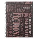 Cuaderno del arte de la palabra del escritor de la