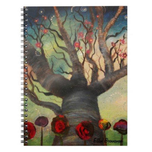 Cuaderno del arte del árbol de la fantasía