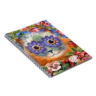 Cuaderno del arte del gato de la flor de Louis Wai