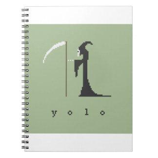 cuaderno del arte del pixel del parca de yolo