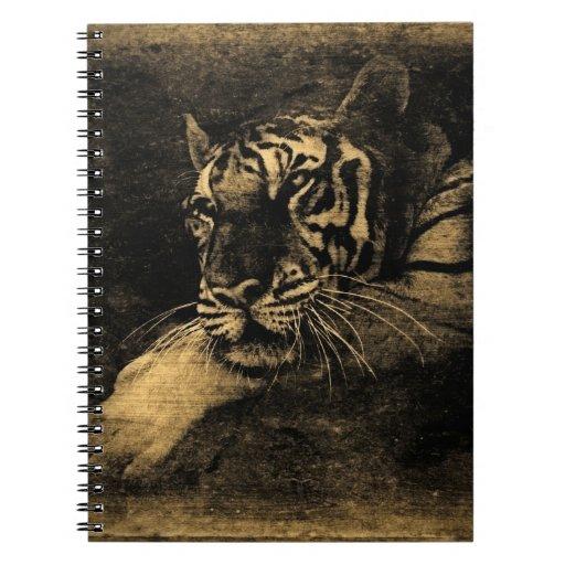 Cuaderno del arte del vintage del tigre