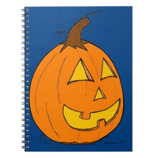 Cuaderno del azul de la linterna del o de Jack