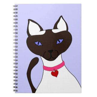 Cuaderno del azul del bígaro de Moira del Ronroneo