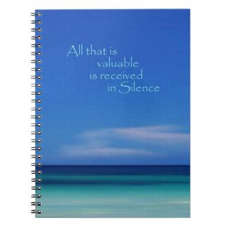 Cuaderno del azul del mar del Caribe