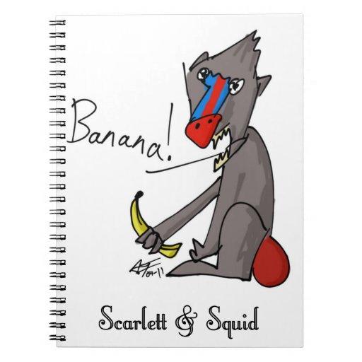 Cuaderno del babuino y del plátano