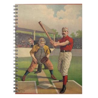 Cuaderno del béisbol del vintage