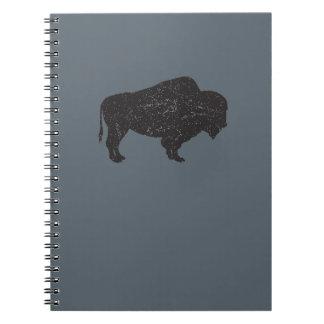 cuaderno del bisonte del Vintage-estilo