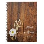 Cuaderno del boda del país del pedazo de la margar
