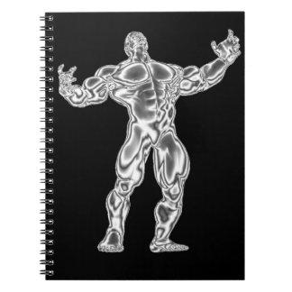 Cuaderno del Bodybuilder del cromo