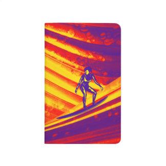 Cuaderno del bolsillo, diseño de la puesta del sol