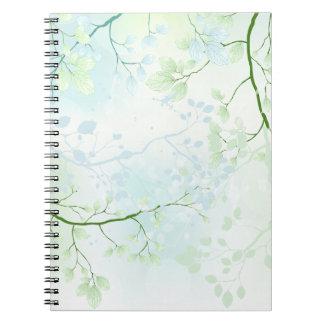 Cuaderno del bosque de la acuarela