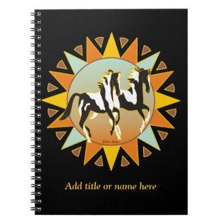 Cuaderno del caballo de la pintura de la estrella