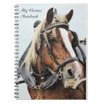Cuaderno del caballo de proyecto