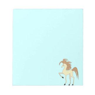Cuaderno del caballo del dibujo animado blocs