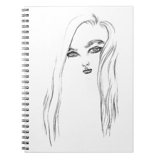 Cuaderno del chica 1 de la tinta