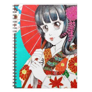 Cuaderno del chica del kimono