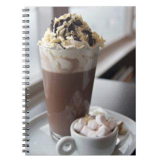 cuaderno del chocolate caliente