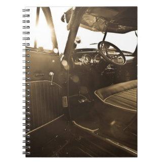 Cuaderno del coche del vintage