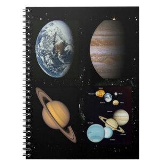 Cuaderno del collage de la Sistema Solar de los pl