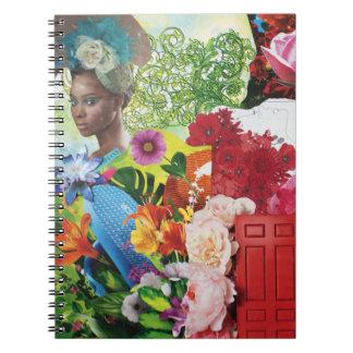 Cuaderno del collage del flower power
