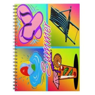 Cuaderno del collage del verano