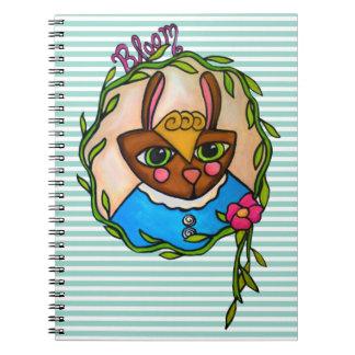 Cuaderno del conejito de la floración