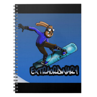 Cuaderno del conejo de la snowboard