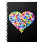 Cuaderno del confeti del corazón del arco iris