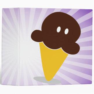 """cuaderno del cono de helado de chocolate del chibi carpeta 2"""""""
