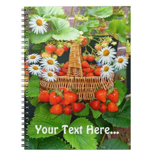Cuaderno del ~ de la cesta de la fresa