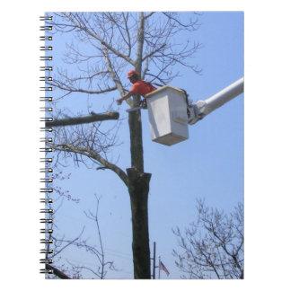 Cuaderno del del retiro del árbol