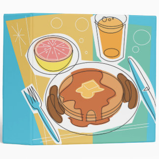 cuaderno del desayuno de la crepe
