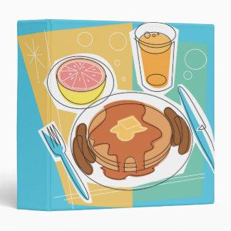 """cuaderno del desayuno de la crepe carpeta 1 1/2"""""""