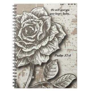 Cuaderno del deseo del corazón.