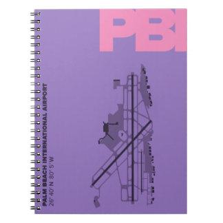 Cuaderno del diagrama del aeropuerto del Palm