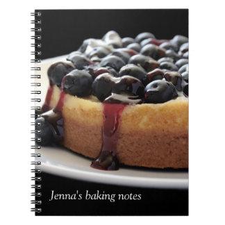 cuaderno del diario de la hornada del pastel de qu