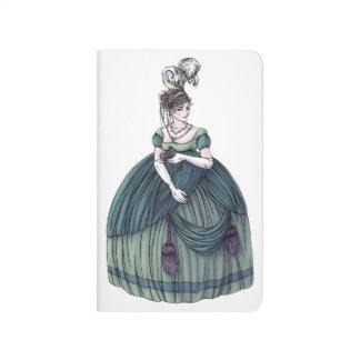 Cuaderno del diario de la moda de la regencia mini