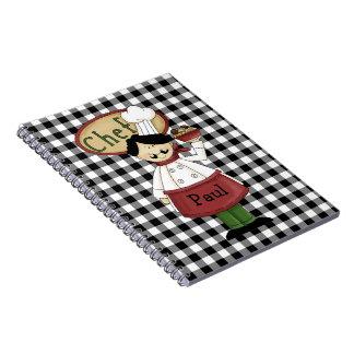 Cuaderno del diario del cocinero