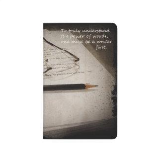 Cuaderno del diario del escritor del autor