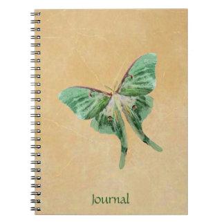 Cuaderno del diario del jardín de la polilla de Lu
